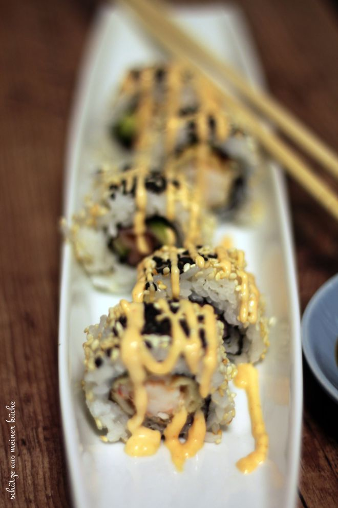 Ebi Tempura Inside-Out-Roll Sushi