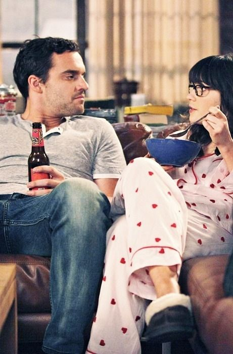 Jake Johnson and Zooey Deschanel; New Girl