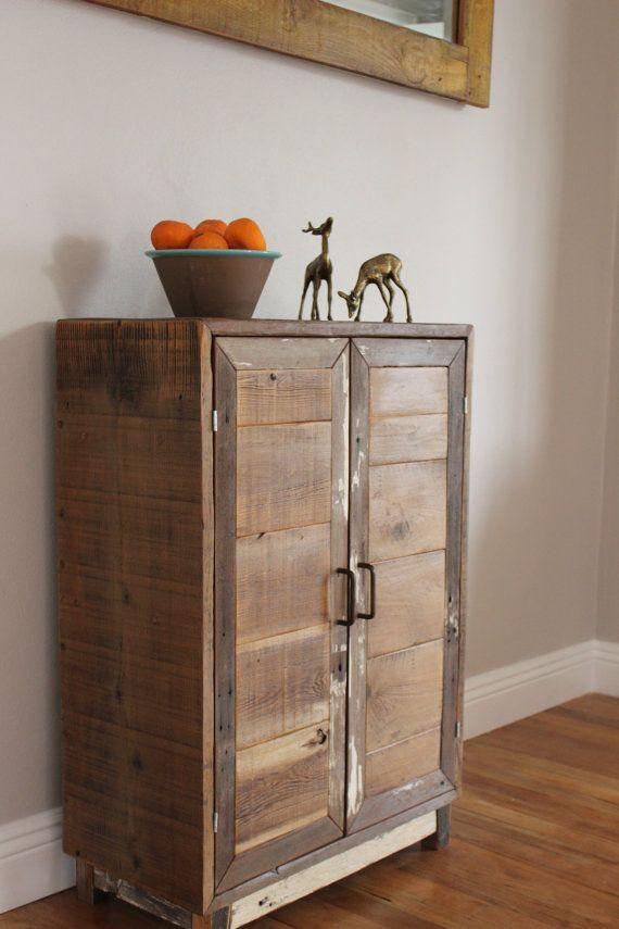 Reclaimed Wood Mid Century Inspired Bar Storage Cabinet On Etsy, $350.00 |  Kristenu0027s Inspiration | Pinterest | Bar, Storage Cabinets And Woods