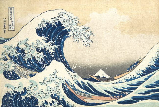 The Great Wave at Kanagawa (from a Series of Thirty-Six Views of Mount Fuji), Edo period (1615–1868), ca. 1831–33  Katsushika Hokusai (Japanese, 1760–1849)