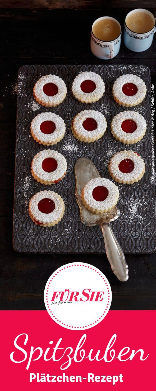 Unser Tipp für Dich: Das Backrezept für Spitzbuben-Plätzchen mit Kirschmarmelade eignet sich hervorragend als Weihnachtsgebäck. Die süßen Kekse sind einfach lecker!