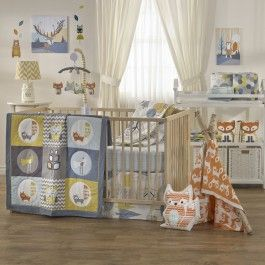<p><strong>Add a unique touch!</strong></p><br/><p>The Woods 4-piece crib set by Lolli Living features woodland animals and eclectic prints that coordinate perfectly with mix n' match bedding. Made with 100% cotton, this set includes a quilt, 2 fitted sheets, and a bed skirt.</p>