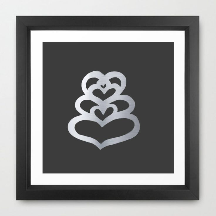 Enter to win: Limited Edition Outie Metallic Heart-stacked Tiki Print in Silver on Black(A4) | http://www.dango.co.nz/s.php?u=S5evQ0cn2359