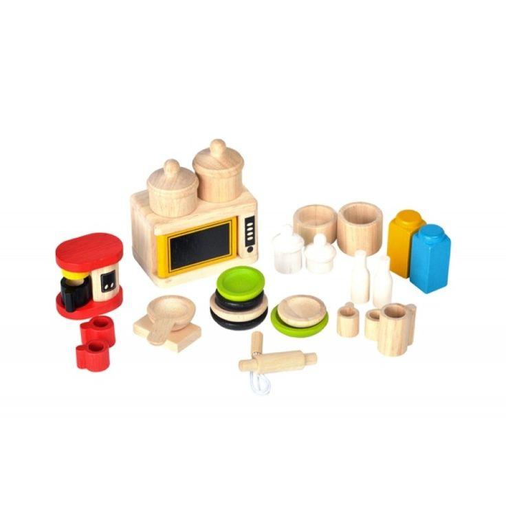 Dockköksutrustning, Accessories for Kitchen and Tableware - PlanToys - Ekologiskt & Tryggt - GoodforKids