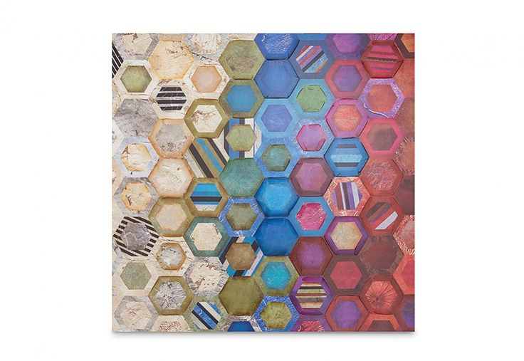 Honeycomb Canvas 100cm x 100cm | Super Amart