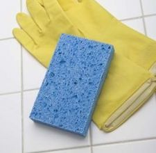 homemade product to clean bathroom tiles
