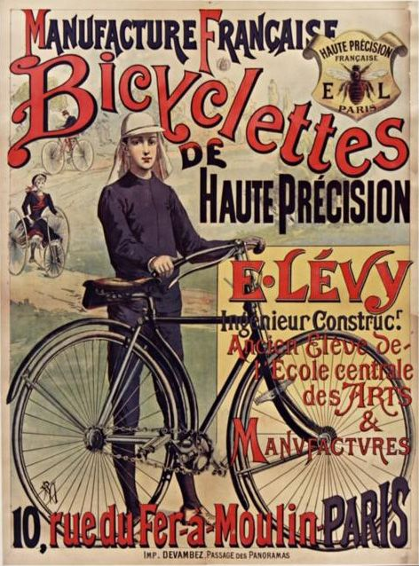 1890 French ad: Manufacture Francaise Bicyclettes