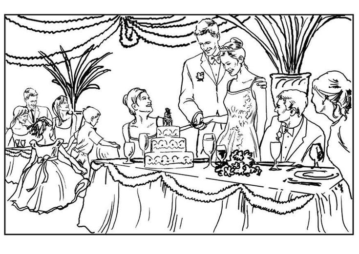 15 best Free Wedding Coloring Pages From Elite Dresses!!! images on ...