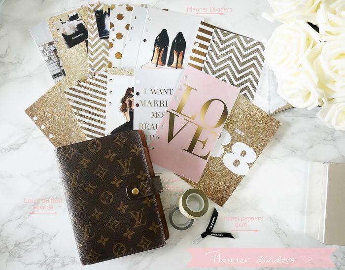 DIY Planner Dividers for my Louis Vuitton mm agenda.  www.shefabulous.se