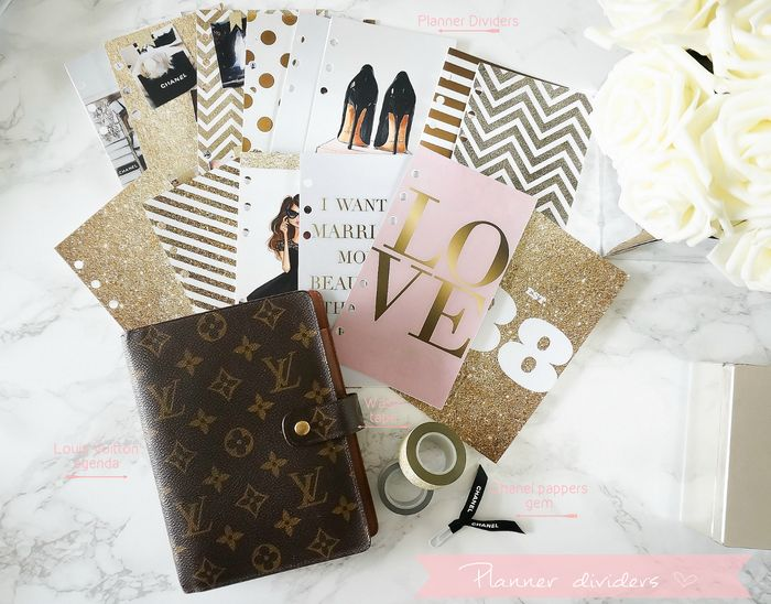 diy planner dividers for my louis vuitton mm agenda