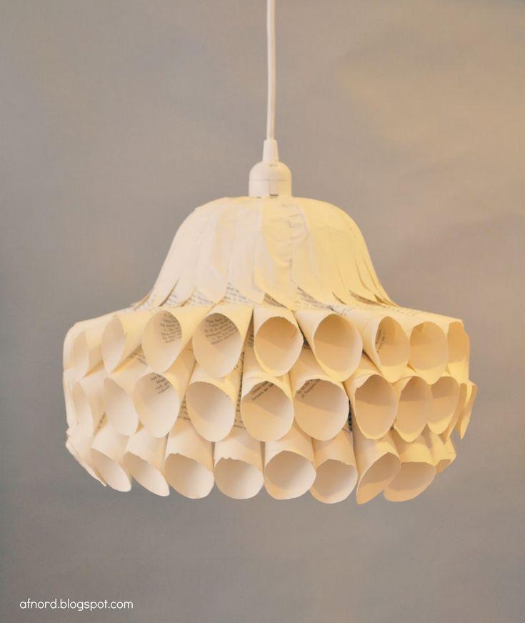 Recycle Design - Paper Lamp Paper Pinterest