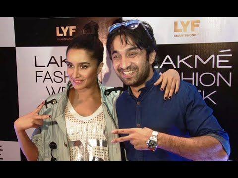Shraddha Kapoor with brother Siddhanth Kapoor at Lakme Fashion Week 2016.