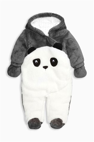 Buy Black/White Panda All-In-One from the Next UK online shop