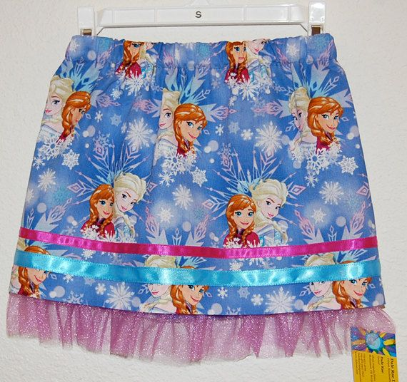 Frozen print cotton girl's skirt by DaleRaeDesigns on Etsy