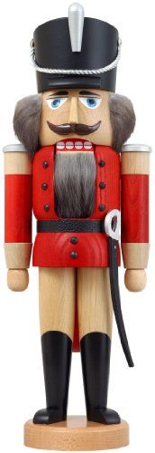 German nutcracker hussar ashtree red height 37 cm  15 inch original Erzgebirge by Seiffener Volkskunst >>> Find out more about the great product at the image link.