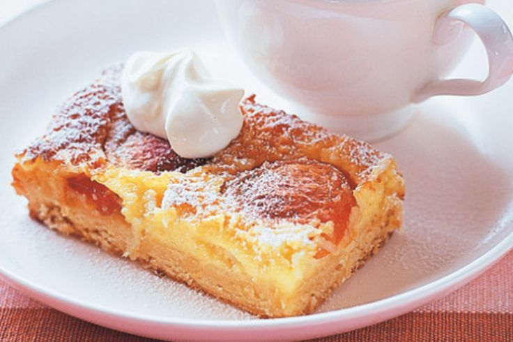 Transform simple summer ingredients into a decadent dessert slice brimming with apricots and coconut.