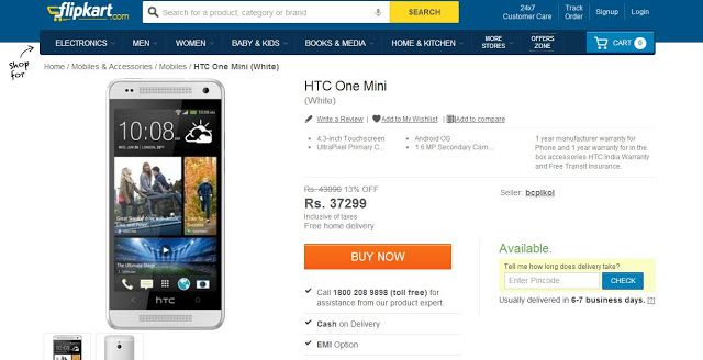 HTC One Mini With Ultra-Pixel Camera Now Available In India - Mobile Doctors.co
