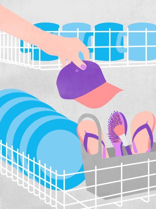 Deine Spülmaschine macht dir das Leben leichter: Sie reinigt nämlich nicht nur Teller und Tassen, sondern auch Haarbürsten, Baseballmützen und vieles mehr.