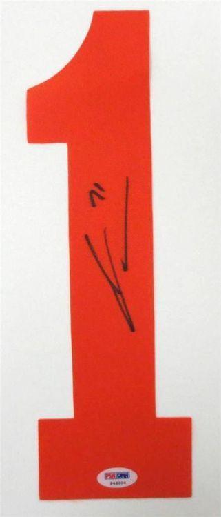 James van Riemsdyk Signed Philadelphia Flyers Orange Number PSA Authentication