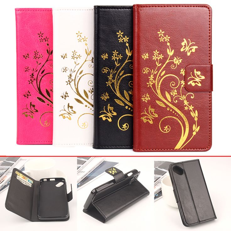 Wiko Sunny Case Luxury Hot stamping Crazy Horse Skins Wallet Flip Leather Protective Cover Case For Wiko Sunny / Wiko B Kool