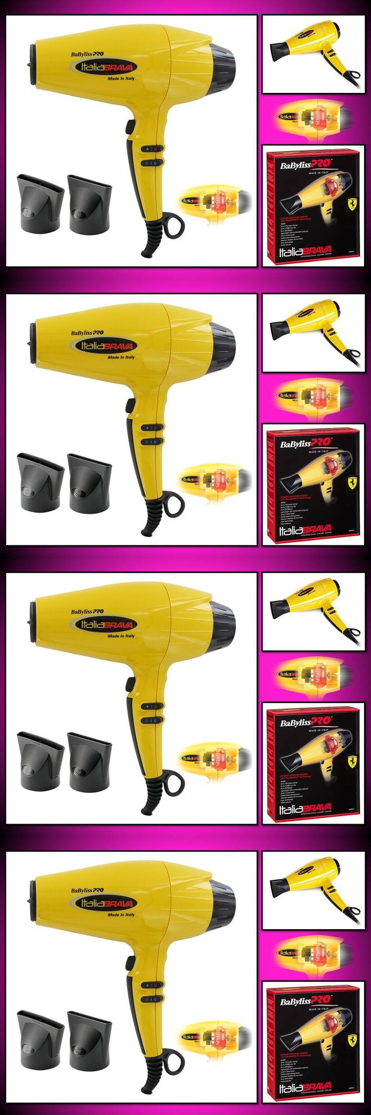 Hair Dryers: Authentic New Babyliss Pro Italia Brava 2000 Watt Yellow Hair Blow Dryer Babfb1 -> BUY IT NOW ONLY: $127.06 on eBay!