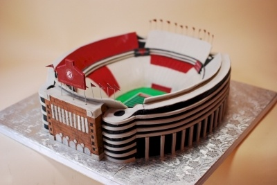 Alabama's Bryant Denny Stadium Groom's Cake By cupadeecakes on CakeCentral.com