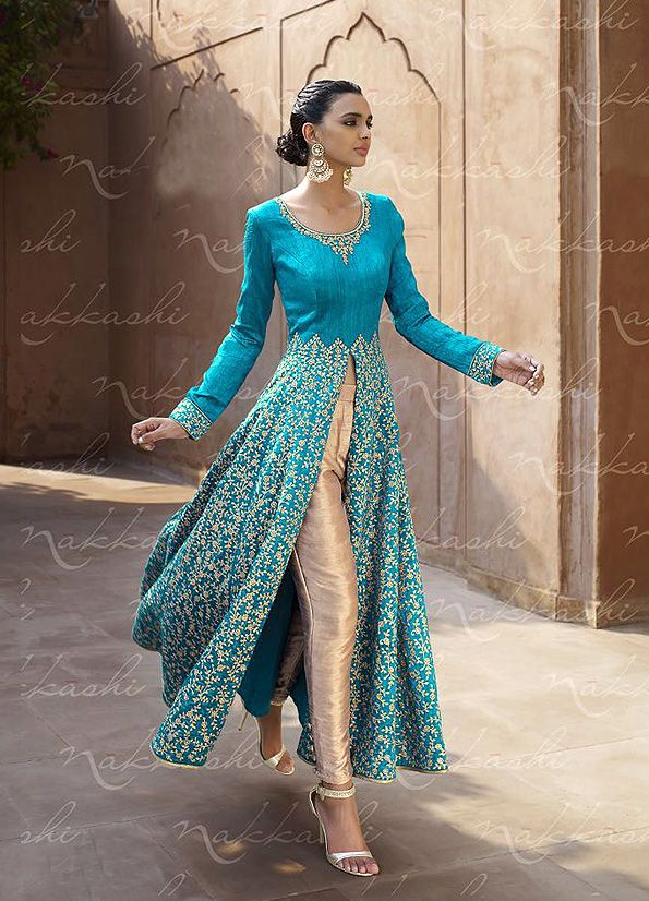http://falakenoorboutique.com/lehengas/blue-and-beige-embroidered-lehenga-anarkali