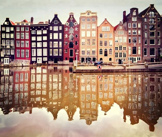 #Amsterdam canals (by unknown)