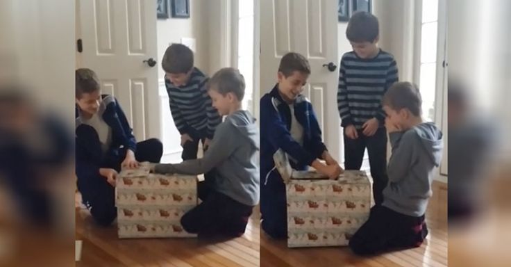 This mom from Indiana came up with the neatest way to surprise her kids with their joint Christmas present! They came downstairs on Christmas Eve, still in their jammies to Mom filming them. Mom and Dad direct them to answer the door, where a wrapped present sits on the welcome mat. One of the boys carries …