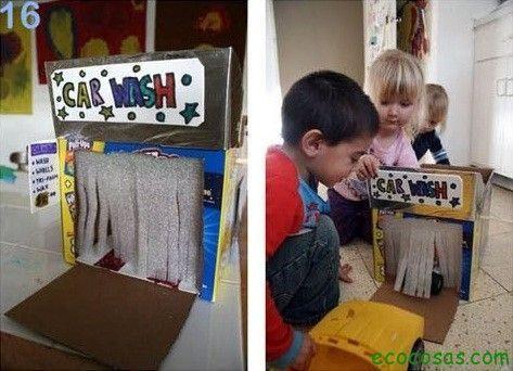 Despierta la creatividad de tus hijos armando increíbles objetos con cajas de cartón que ya no uses en casa, la imaginación es tu limite y pasa momentos di
