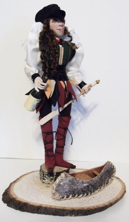 A commission doll. A request for a Pirate with Angel wings.