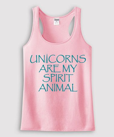 Look what I found on #zulily! Light Pink 'My Spirit Animal' Racerback Tank - Toddler & Girls #zulilyfinds