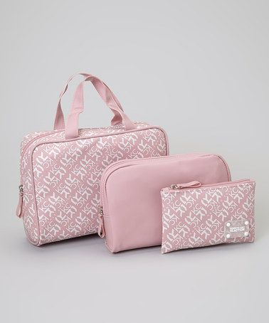 Take a look at this Pink Cosmetic Bag Set by Kenneth Cole Reaction on #zulily today!