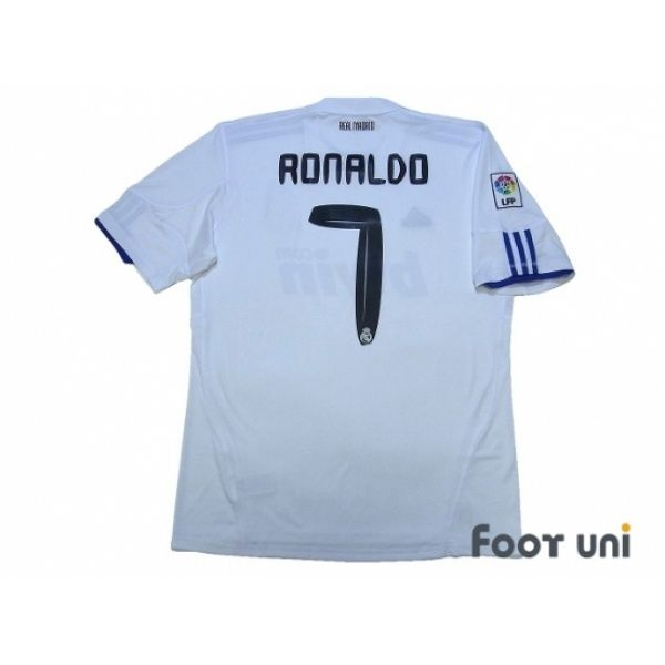 Real Madrid 2010-2011 Home Shirt #7 Ronaldo LFP Patch/Badge #adidas - Football Shirts,Soccer Jerseys,Vintage Classic Retro - Online Store From Footuni Japan
