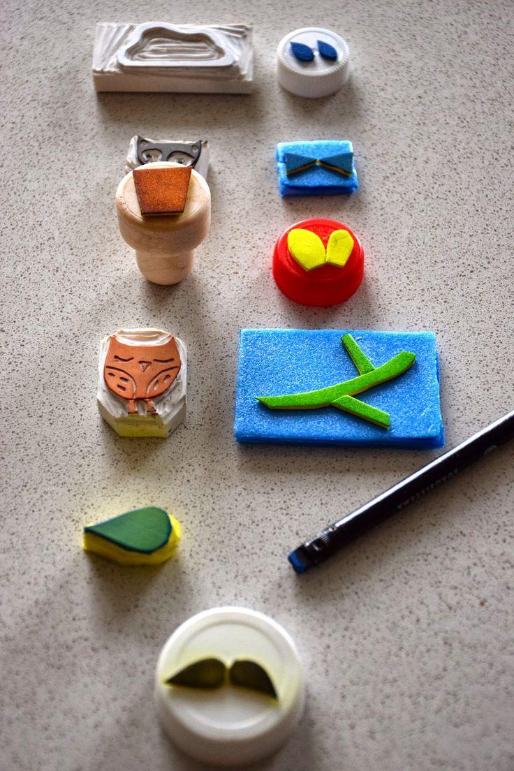 DIY: Giochiamo con i timbri fatti a mano! Idee per utilizzarli!