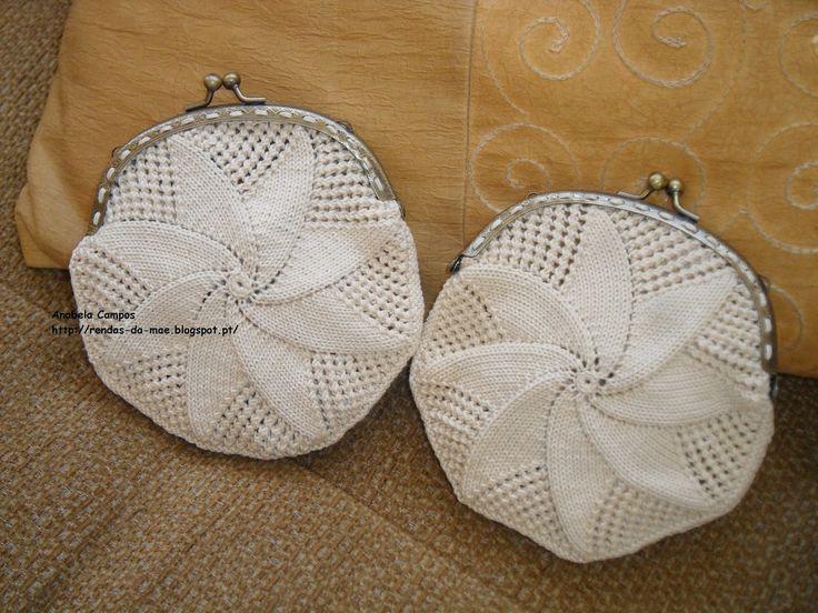 Rendas da Mãe: Bolsa /Porta moedas de crochet com fecho