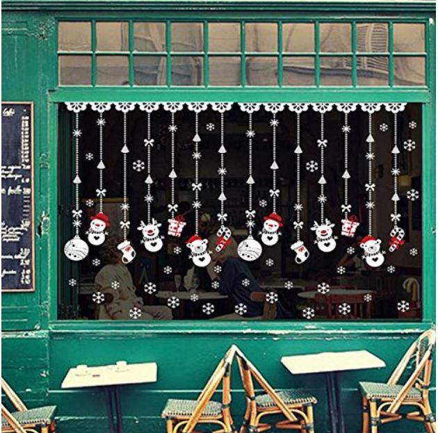 Para esta Navidad, pegatinas para las ventanas.  #navidad #decoracionnavideña #decoracion #ventanas #vinilo #vinilonoel #vinilomuñecodenieve #muñecodenievenavidad #muñecodenieve #stickersanta #sticker #nieve #stickernieve