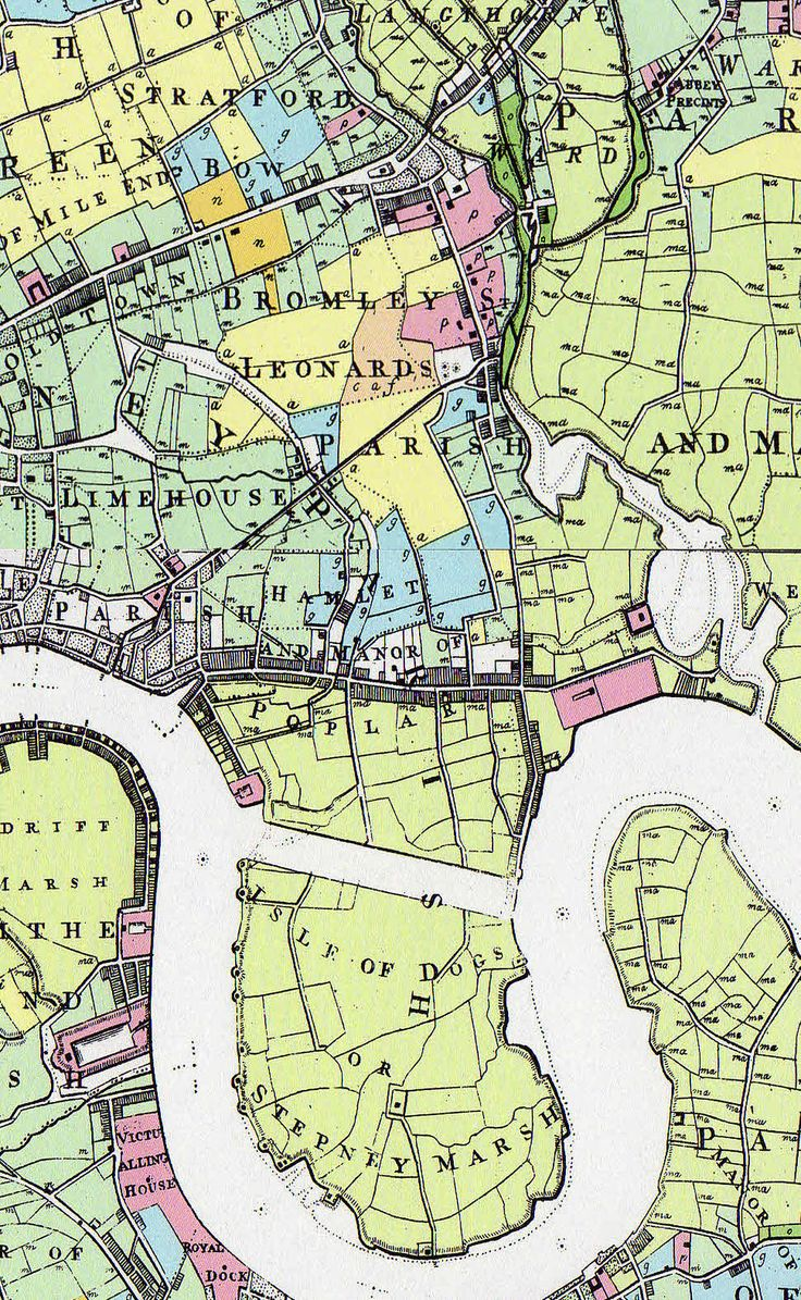 """Thomas Milne's 1800 """"Land Use Map of London and Environs"""""""
