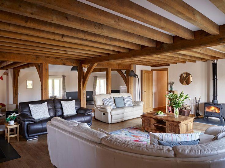 Tynrhyd Retreat – Commercial contemporary barn complex | Welsh Oak Frame #sitting #room #home #beams #oak #wood #cozy