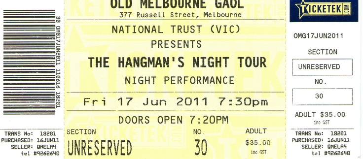 Hangmans Tour - Old Melbourne Goal Night Tour - June 2011
