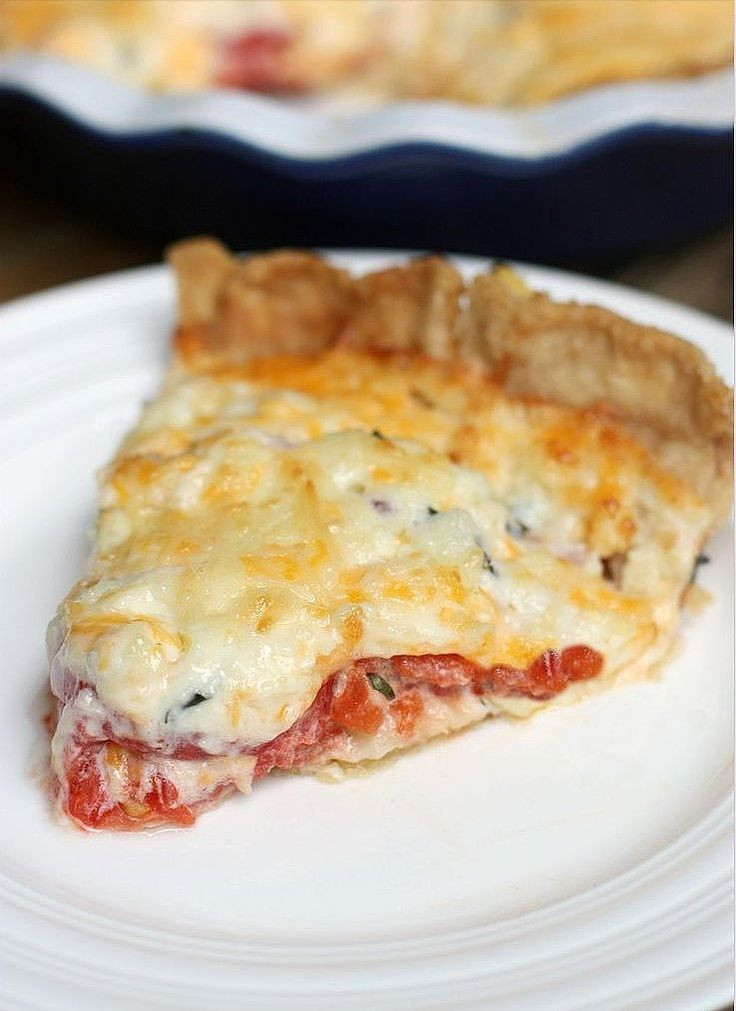 Get the recipe: tomato pie                  Image Source: Tastes Better From Scratch