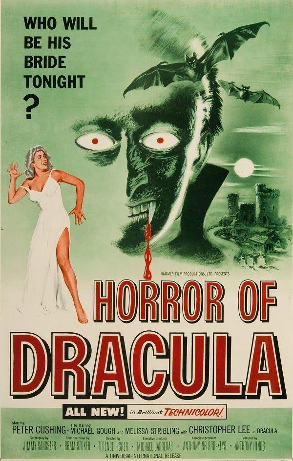 Great Movie Posters - Hammer's Dracula series http://www.themoviewaffler.com/2014/01/great-movie-posters-hammers-dracula.html