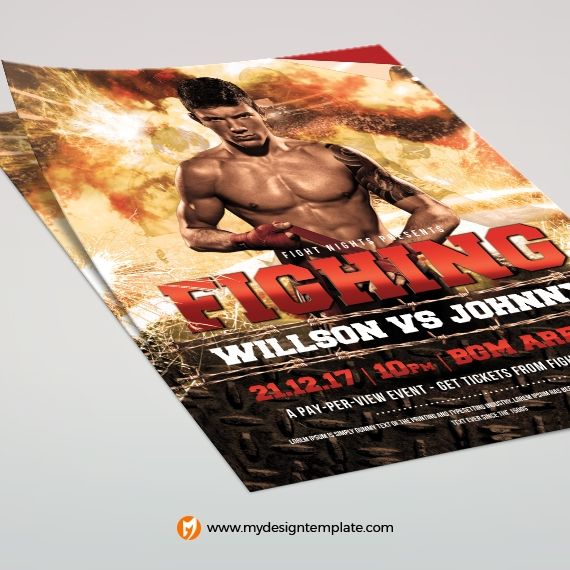 Wrestling Poster Template