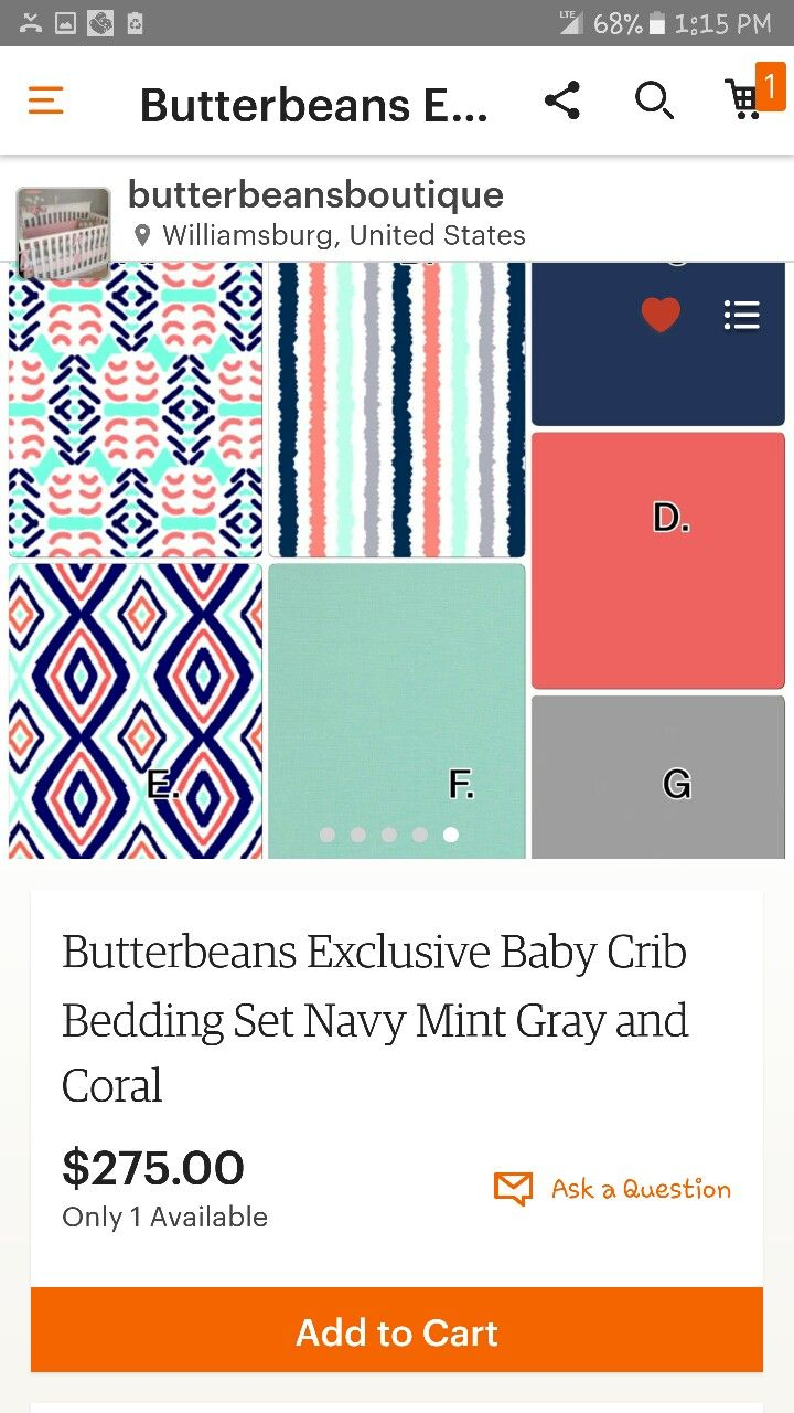 Crib bedding set gray white navy blue with by butterbeansboutique - By A Little Bit Of Just Because