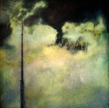 "Saatchi Art Artist Marjan Fahimi;  ""in my electric field"" - Oil on Canvas - 90x90 cm #art"