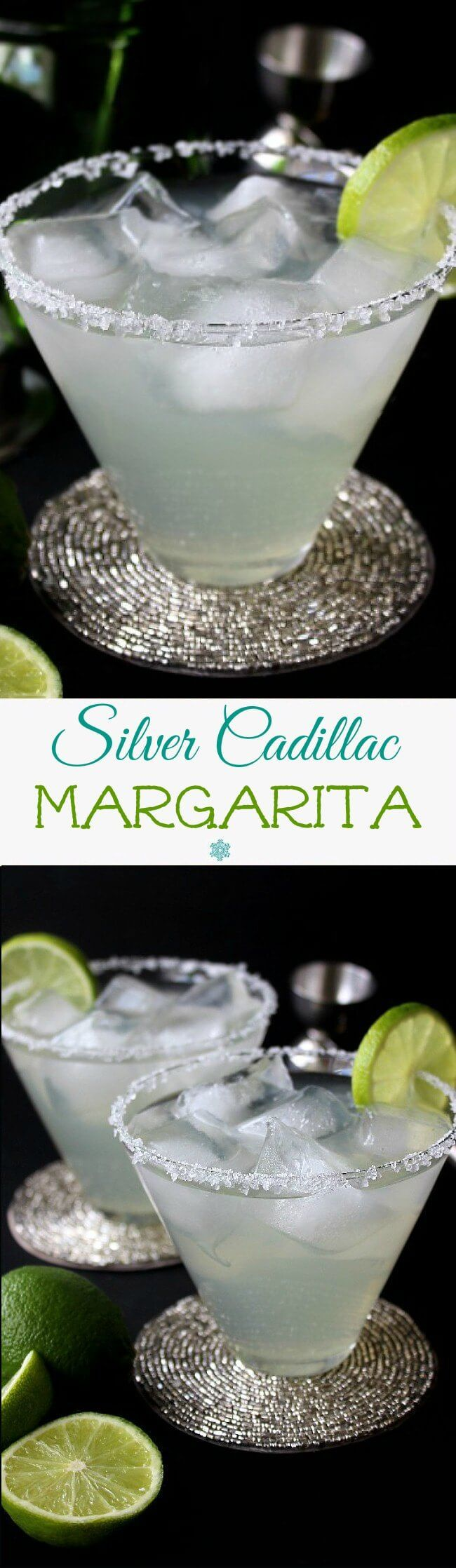 Silver Cadillac Margarita is a simple cocktail with a perfect balance of 5 special ingredients. Serve on the rocks or sip it with a straw. Either way it will go great with any Mexican style meal or holiday. It's a keeper!