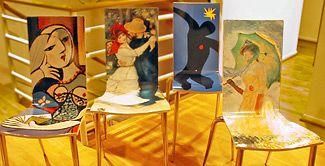 Jonathan Fong Style - Decoupage Fine Art Chairs
