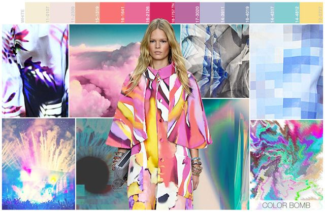 s/s 2016 women's art for trend theme: color bomb mood: