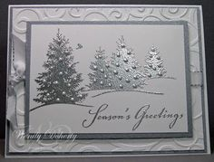 Friday, December 17 Stamping Styles: Silver Trees; Scenic Season