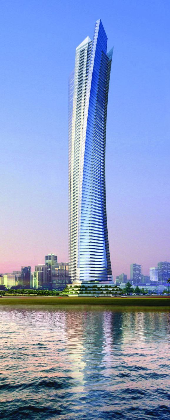 Ocean Heights Tower, Dubai, UAE by Aedas :: 83 floors, height 310m :: completed